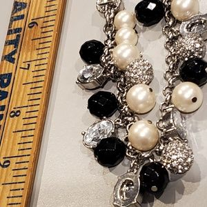 Ann Taylor Jewelry - Ann Taylor Silvertone necklace /lots of baubles